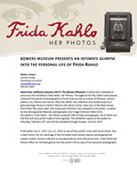 Frida Press Release Page 1