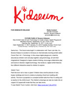 FuturePark at Kidseum Press Release Page 1