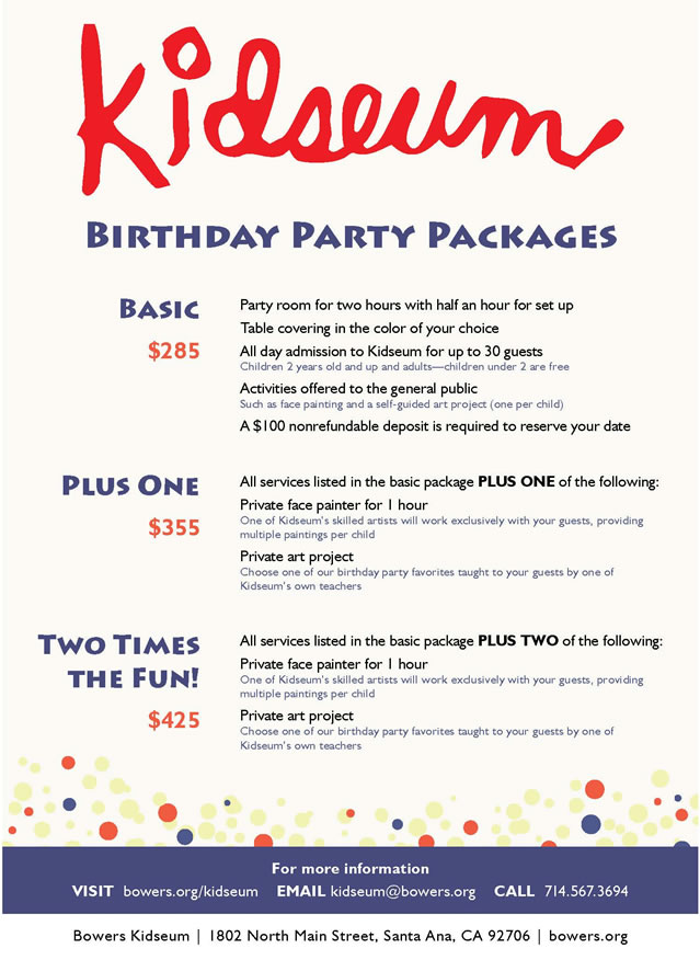 kidseum birthday price