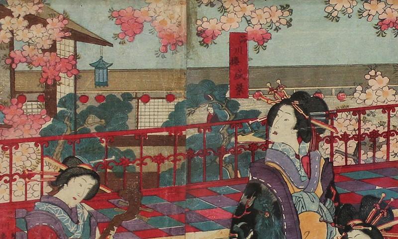 Utagawa Yoshiiku and the Blooming World