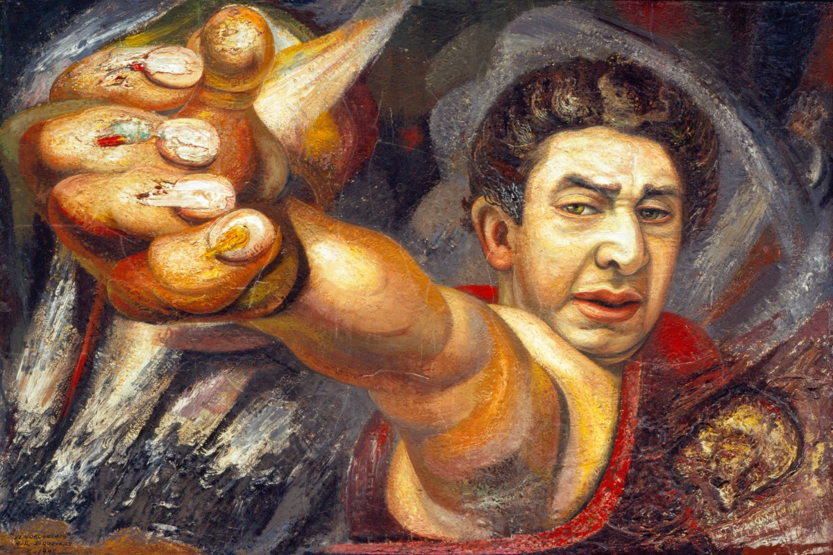 Bowers museum frida friends part 3 david alfaro for Arte mural en mexico