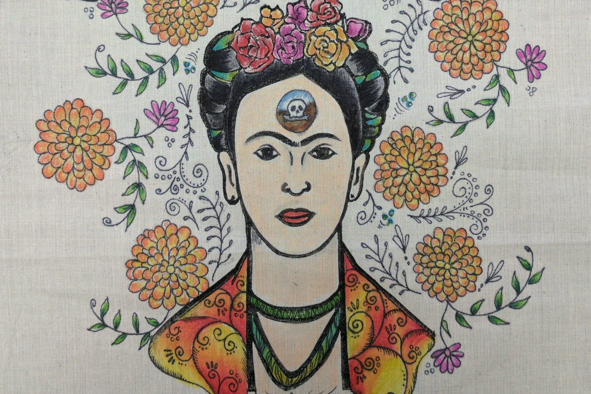 Anne's Treasures | Frida Kahlo Textile Print