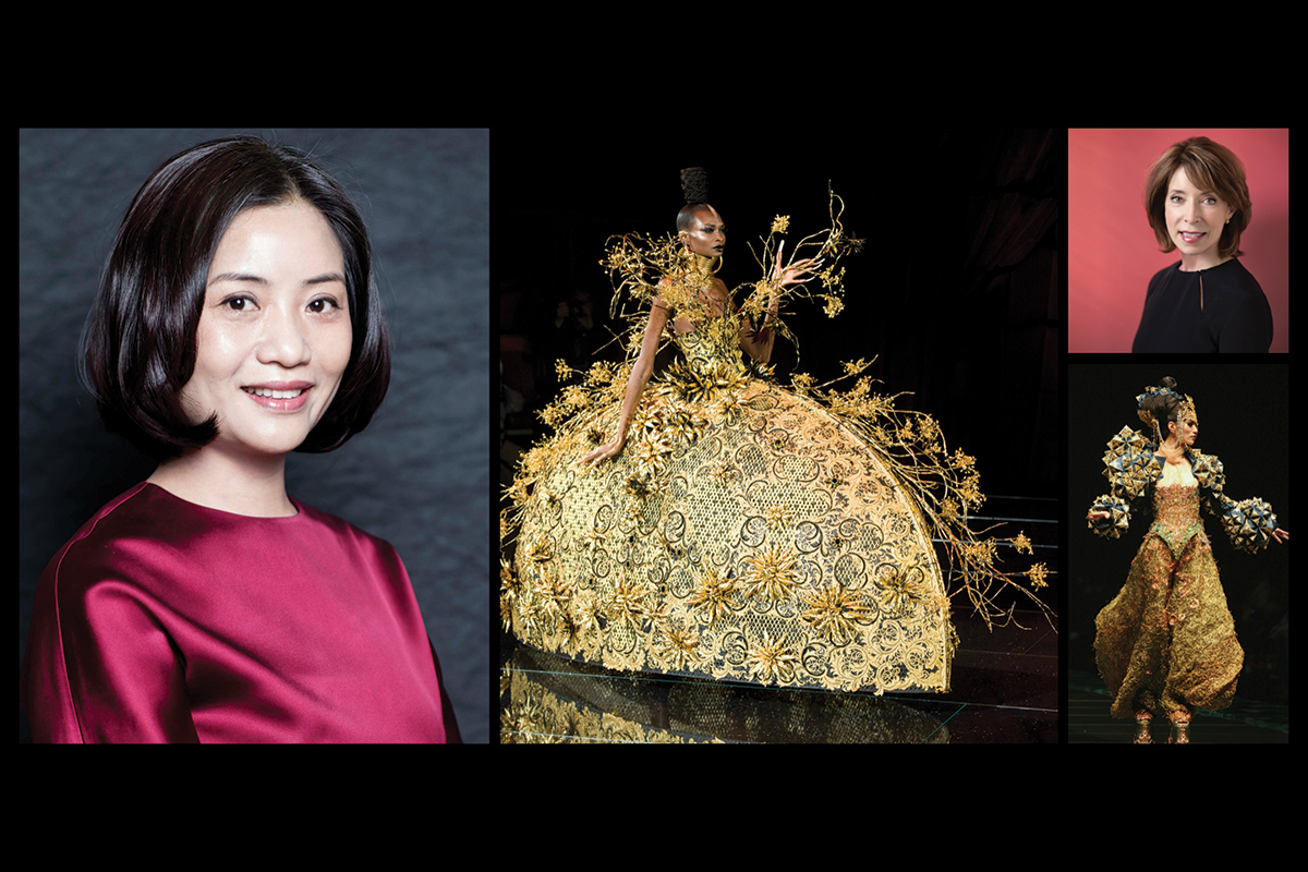 Guo Pei in conversation with SCAD President, Paula Wallace